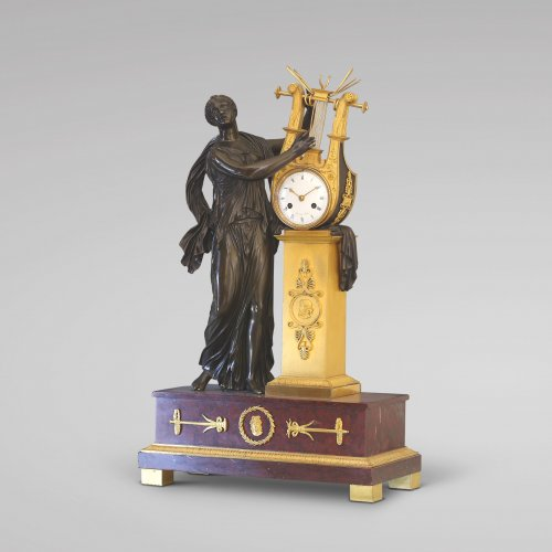 "Empire - ""ERATO"", Empire-period Mantle Clock, after Thomire"