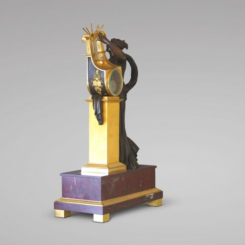 "Antiquités - ""ERATO"", Empire-period Mantle Clock, after Thomire"