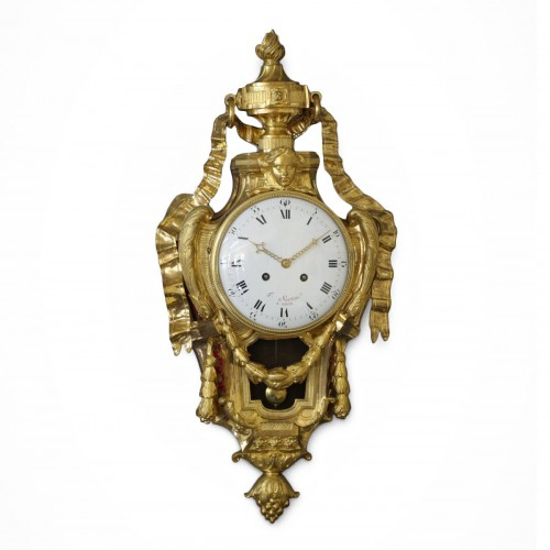 French Wall Cartel Clock by Hubert Sarton