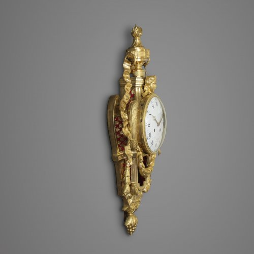 Clocks  - French Wall Cartel Clock by Hubert Sarton