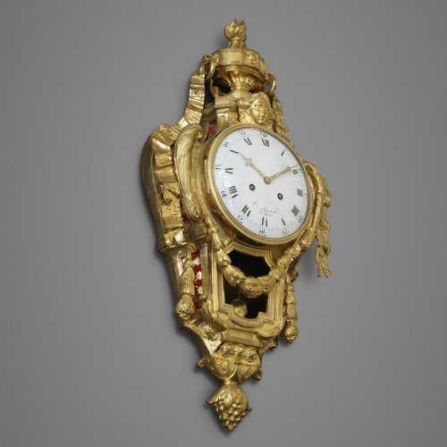 French Wall Cartel Clock by Hubert Sarton -