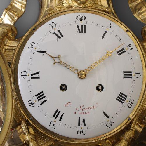 Antiquités - French Wall Cartel Clock by Hubert Sarton