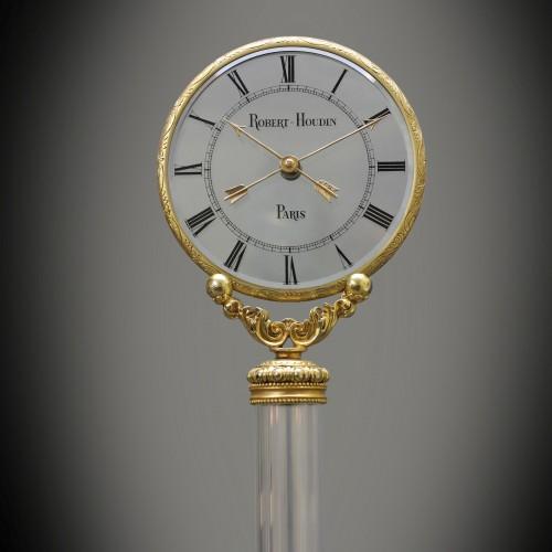 Triple Mystery Clock, Masterpiece from Robert-Houdin - Clocks Style Louis-Philippe