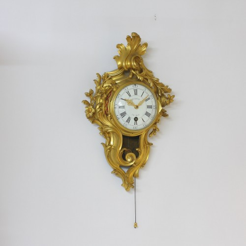 "Julien Leroy, Small  ""Cartel d'Alcôve"" with Chevalier-de-Béthune escapement - Clocks Style Louis XV"