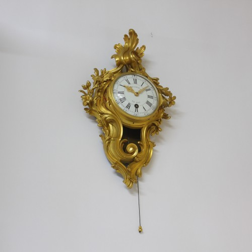 "Clocks  - Julien Leroy, Small  ""Cartel d'Alcôve"" with Chevalier-de-Béthune escapement"