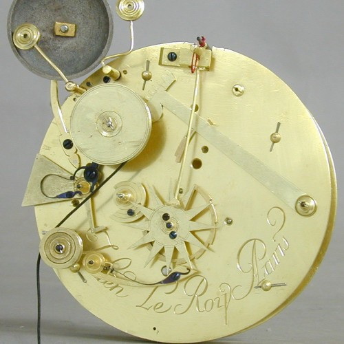 "Antiquités - Julien Leroy, Small  ""Cartel d'Alcôve"" with Chevalier-de-Béthune escapement"