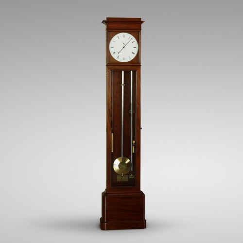 French Shallow Longcase Regulator by Jarossay - Clocks Style Louis-Philippe