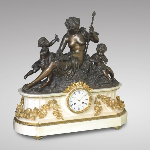 """Autumn"", Large Mantel Clock - Clocks Style Napoléon III"