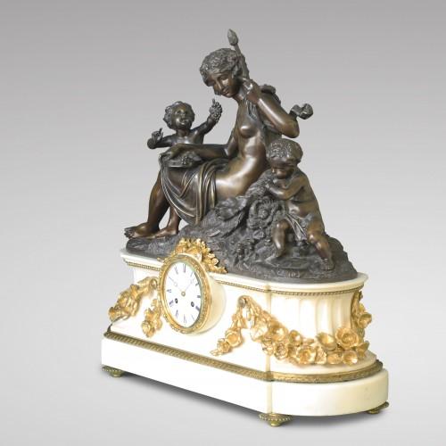 "19th century - ""Autumn"", Large Mantel Clock"