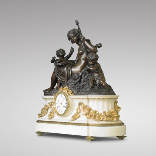 """Autumn"", Large Mantel Clock - Napoléon III"