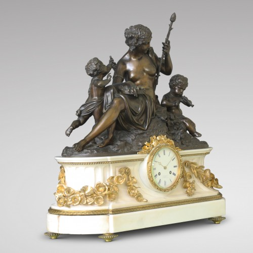 "Antiquités - ""Autumn"", Large Mantel Clock"