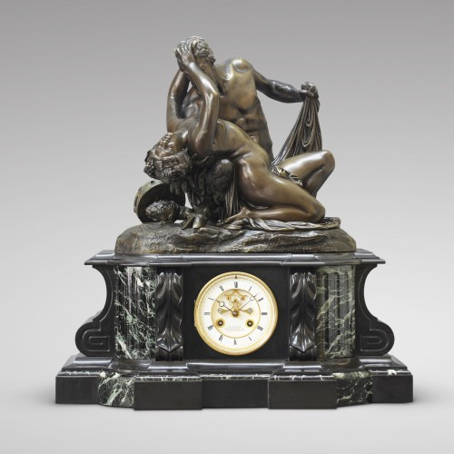 """Satyr and Bacchante"" after James Pradier  - Clocks Style Napoléon III"
