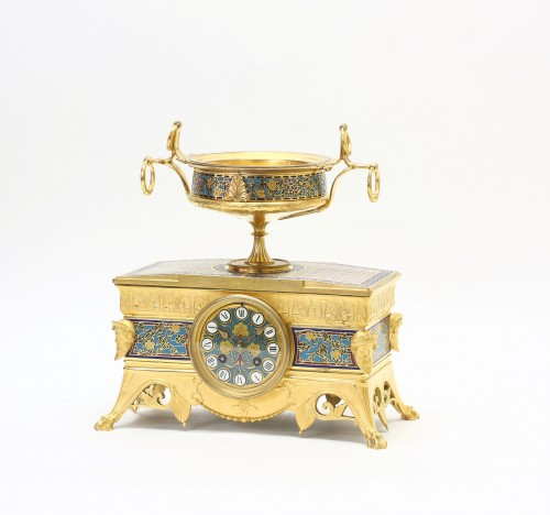 Orientalist Garniture, by Barbedienne and Sévin - Clocks Style Napoléon III