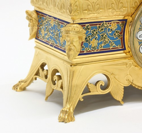 19th century - Orientalist Garniture, by Barbedienne and Sévin