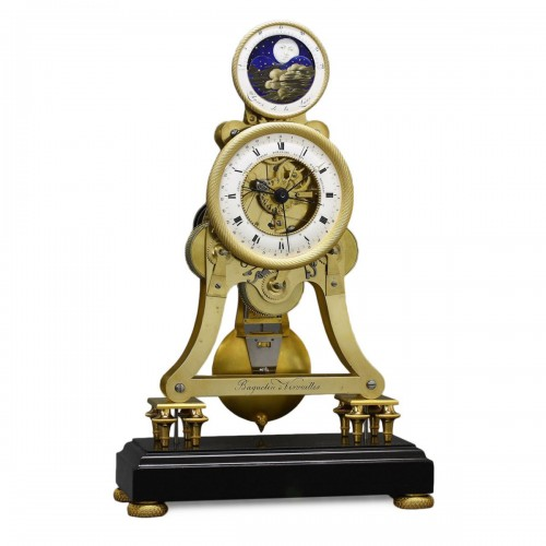 Astronomical Skeleton Clock with Quarter-Strike on Three Bells