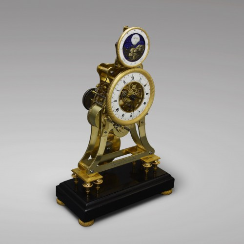 Clocks  - Astronomical Skeleton Clock with Quarter-Strike on Three Bells