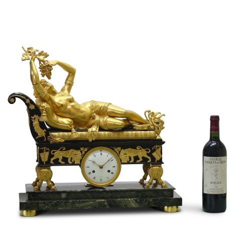 "Antiquités - Erigone seduced by Bacchus"", or ""Reclining Bacchante"" by Claude Galle"