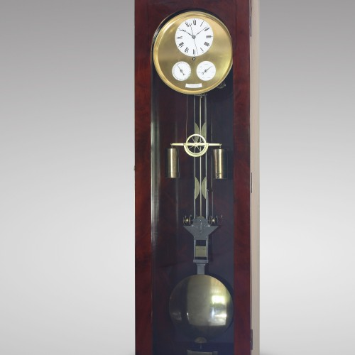 19th century - Precision calendar floor-standing regulator with experimental pendulum