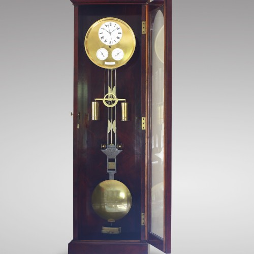 Precision calendar floor-standing regulator with experimental pendulum - Louis-Philippe