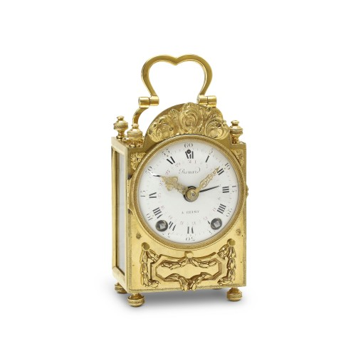 18th C. French portable clock with month calendar, Louis XVI-period