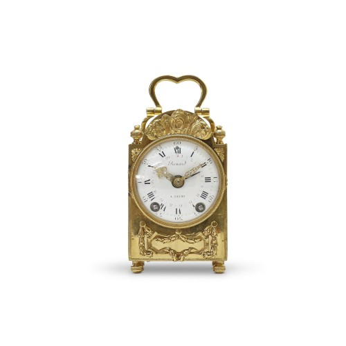 18th C. French portable clock with month calendar, Louis XVI-period - Clocks Style Louis XVI