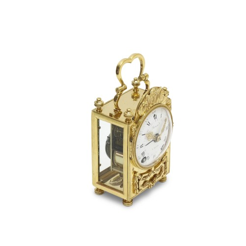 18th C. French portable clock with month calendar, Louis XVI-period -