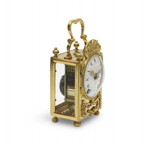 Louis XVI - 18th C. French portable clock with month calendar, Louis XVI-period