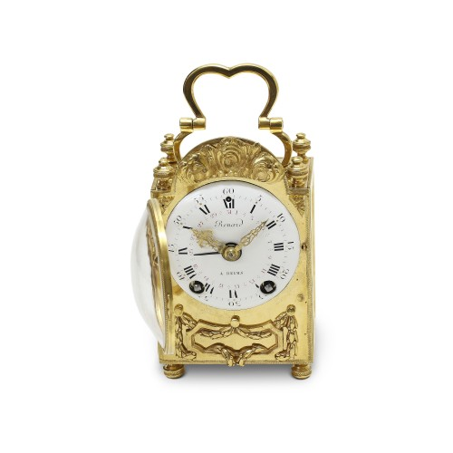 Antiquités - 18th C. French portable clock with month calendar, Louis XVI-period