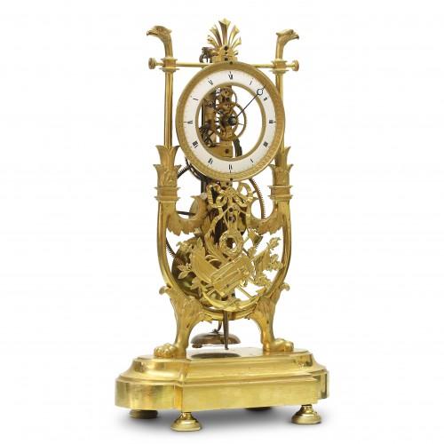 Skeleton Clock with Great Wheel