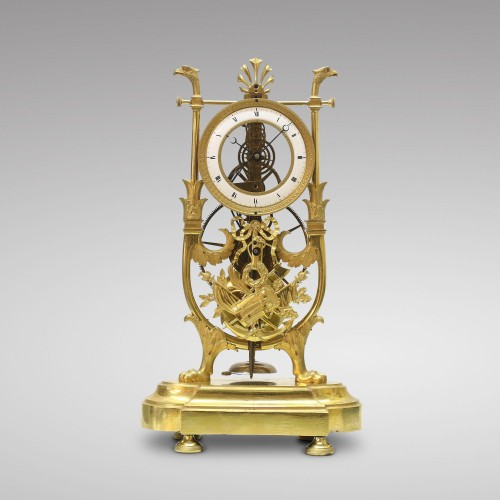 Horology  - Skeleton Clock with Great Wheel