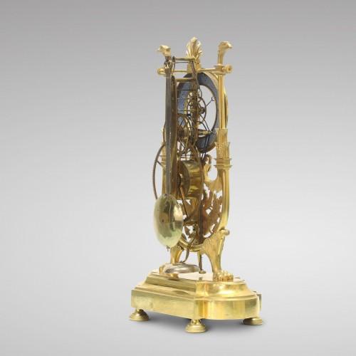 19th century - Skeleton Clock with Great Wheel