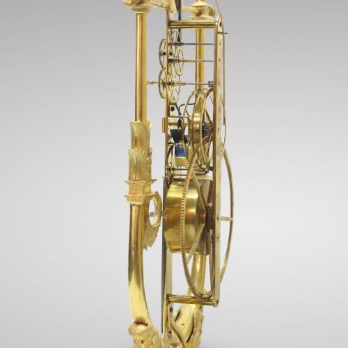 Skeleton Clock with Great Wheel - Restauration - Charles X