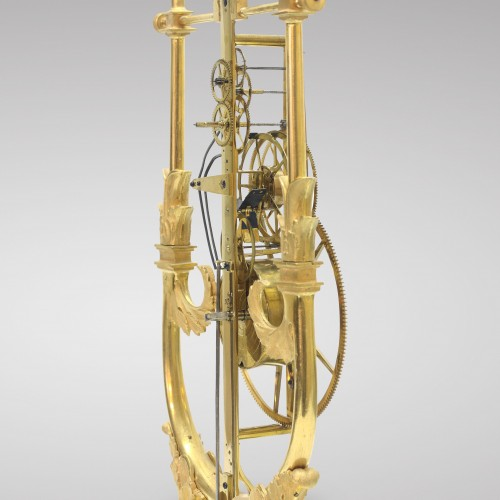 Restauration - Charles X - Skeleton Clock with Great Wheel