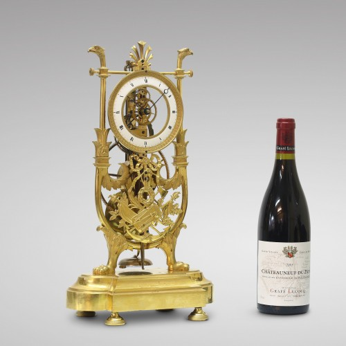 Antiquités - Skeleton Clock with Great Wheel