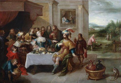 Ahasuerus and Haman at the Banquet of Esther
