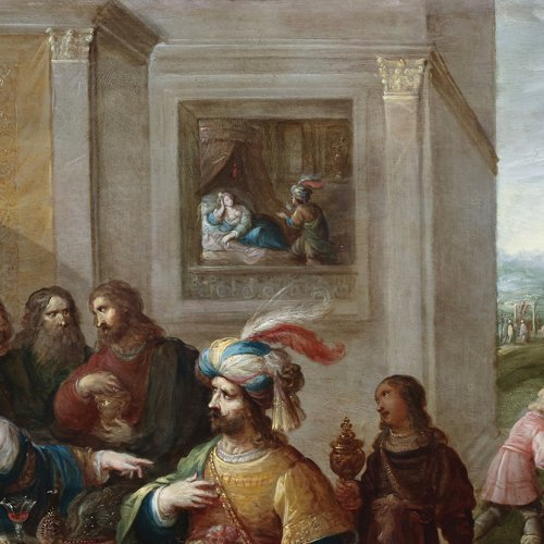 Ahasuerus and Haman at the Banquet of Esther - Paintings & Drawings Style