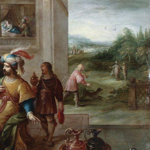 Ahasuerus and Haman at the Banquet of Esther -