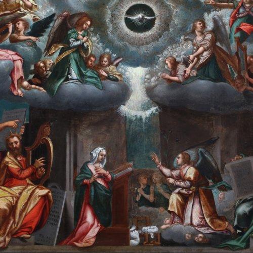 Paintings & Drawings  - Last judgement -  Flemish school of the 17th century