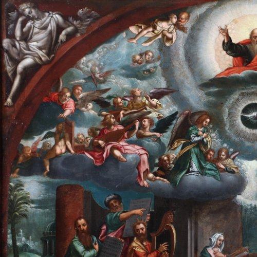 Last judgement -  Flemish school of the 17th century -