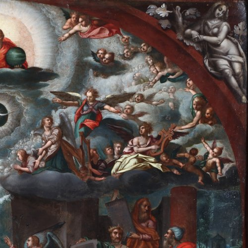 17th century - Last judgement -  Flemish school of the 17th century