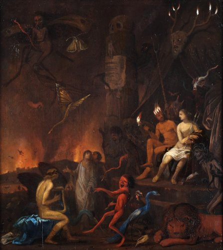 Dante visiting the underworld - 17th century dutch school