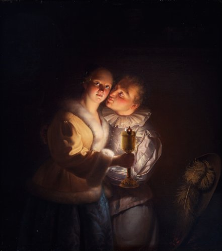 Young couple - Petrus Van Schendel (1806 - 1870)