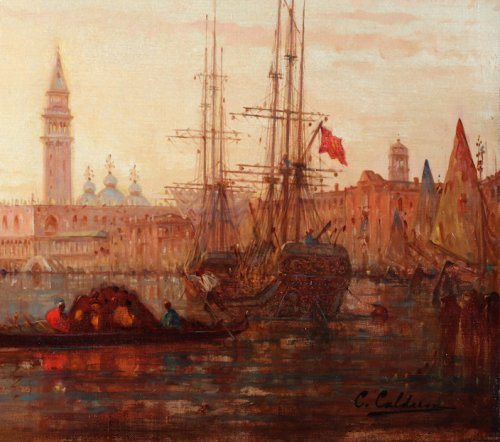 View of Venice - Charles Clément Calderon ( 1870-1906) - Paintings & Drawings Style