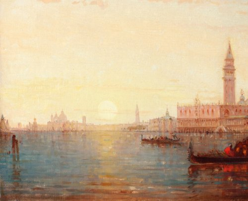 Paintings & Drawings  - View of Venice - Charles Clément Calderon ( 1870-1906)