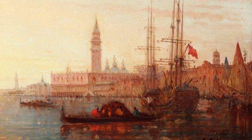 View of Venice - Charles Clément Calderon ( 1870-1906) -