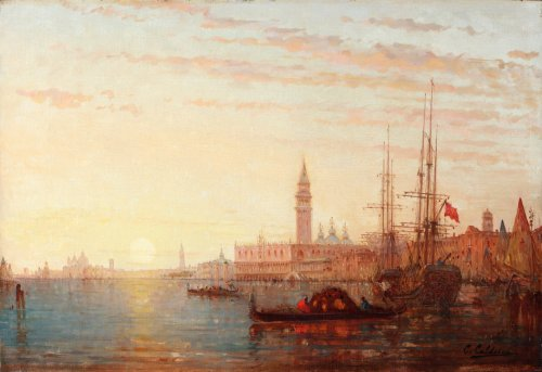 19th century - View of Venice - Charles Clément Calderon ( 1870-1906)