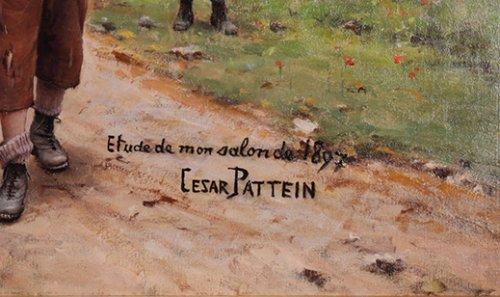 19th century - The 14th of July - César Pattein (1850-1931)