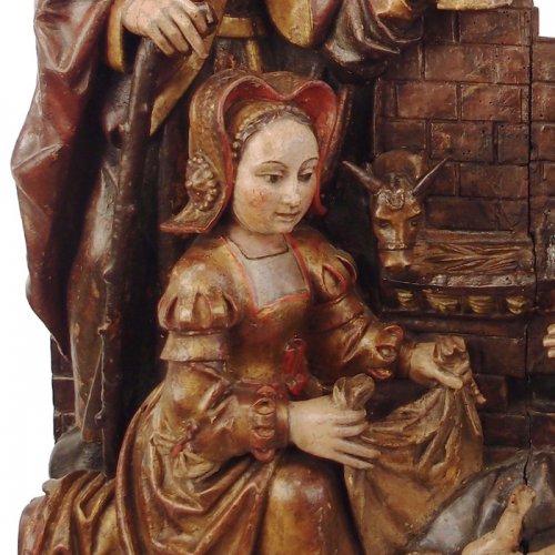 Sculpture  - Adoration of the Christ Child - spanish school 16th century
