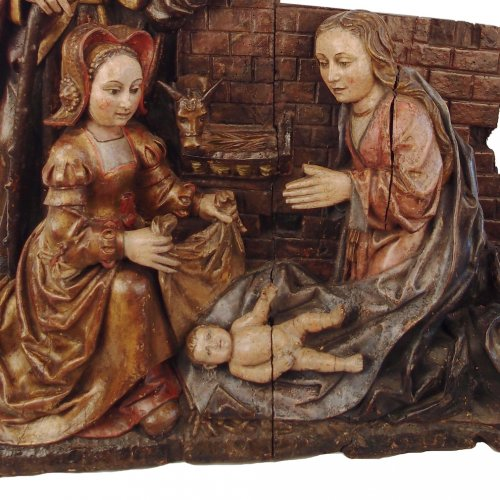 Adoration of the Christ Child - spanish school 16th century -