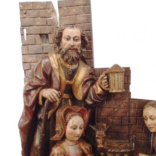 16th century - Adoration of the Christ Child - spanish school 16th century